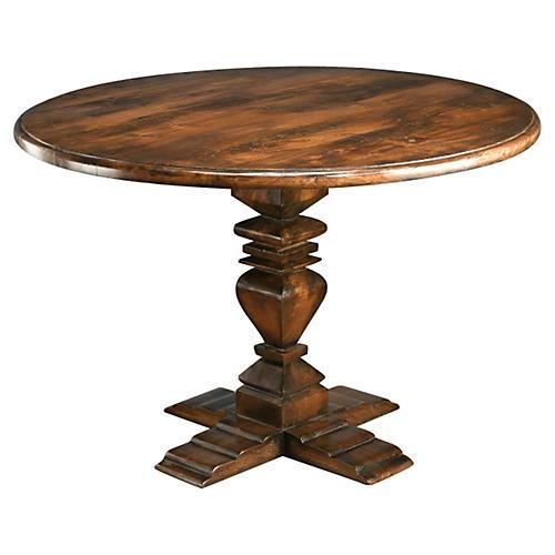 "Diana 48"" Round Dining Table, Pecan"