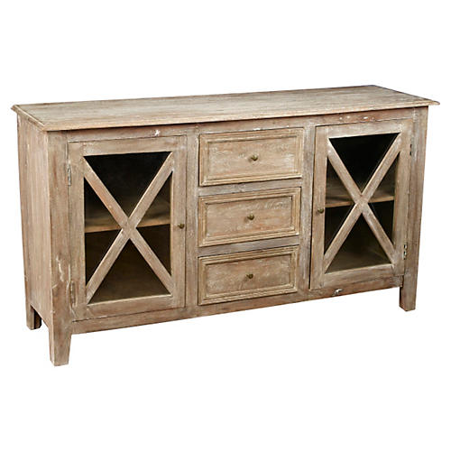 "Brielle 65"" Sideboard, Weathered Sand"