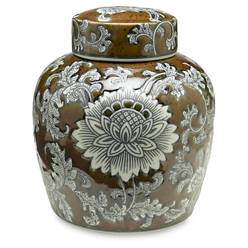 "9"" Florent Jar, Brown/Gray"