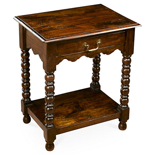 Bronte Spindle Nightstand, Pecan