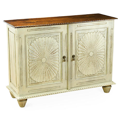 Marlowe 2-Drawer Cabinet, Antique White