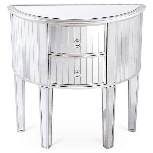 Shelly 2-Drawer Nightstand, Mirrored