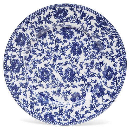 "11"" Vine Plate, Blue/White"