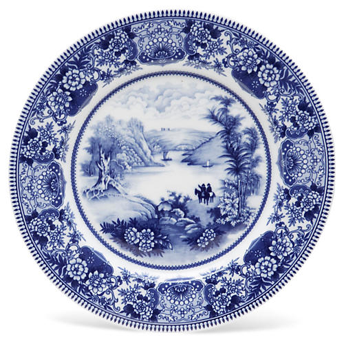 "11"" Lake Plate, Blue/White"