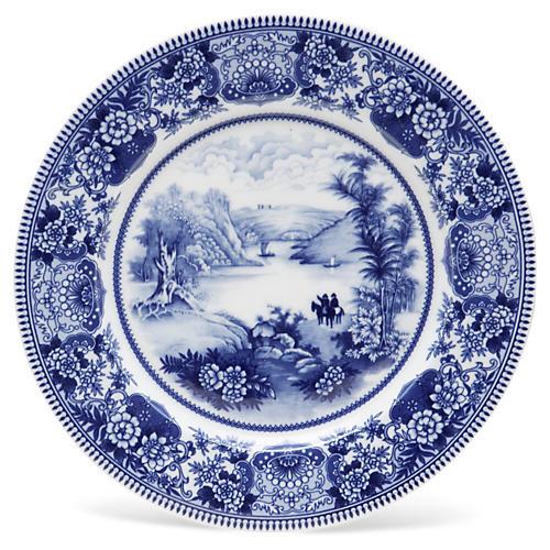 "11"" Lake Plate, Blue/White"