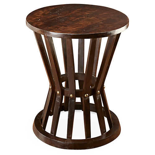Ali Rustic Side Table, Pecan