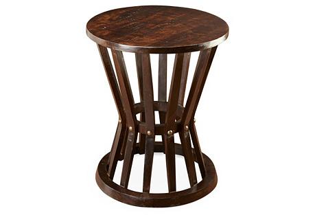Ali Rustic Side Table, Pecan