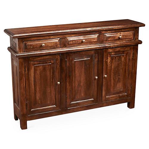 Beulah 3-Door Cabinet, Pecan