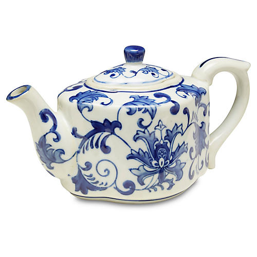 Decorative Floral Teapot