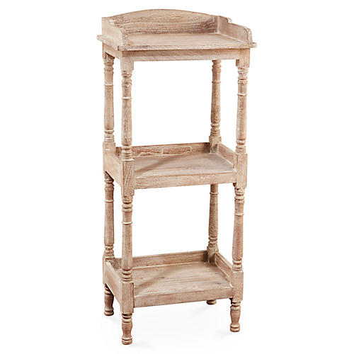 Concord Tiered Bookcase, Whitewash