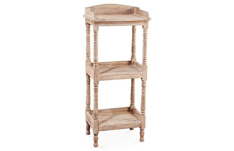 Concord Tiered Bookcase, Whitewash