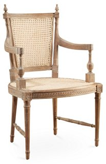 Hampton Wicker Armchair, Pickled Natural   Dining Chairs   Dining    Furniture | One Kings Lane