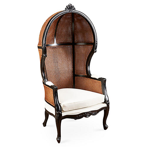 Eliza Canopy Chair, Black