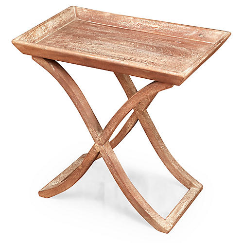 Elise Tray Table, Weathered Sand