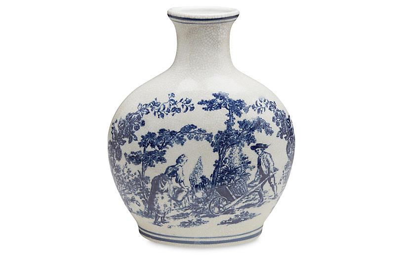 20 Ceramic Crackle Vase Bluewhite Vases Vases Jars Home