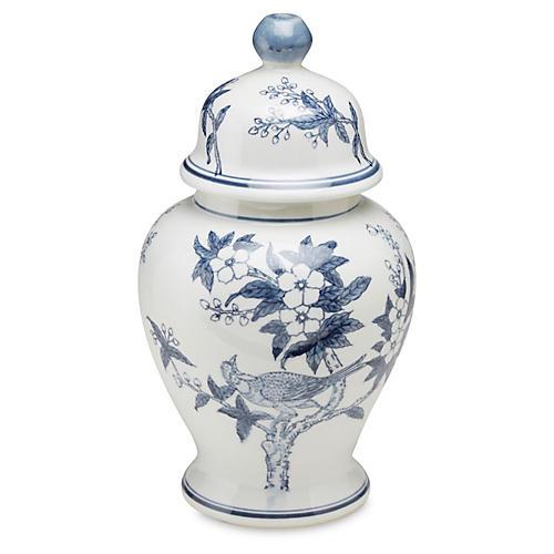 15 Ceramic Ginger Jar Blue White