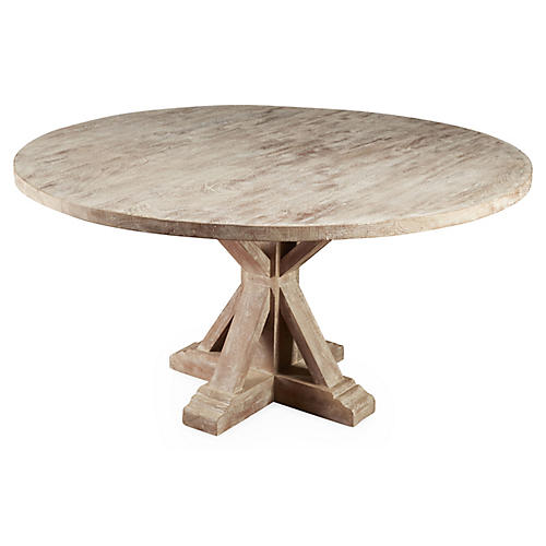 Mason Dining Table, Weathered Sand