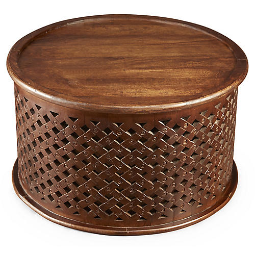Ethan Round Coffee Table, Pecan