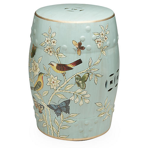 Perry Garden Stool, Light Blue