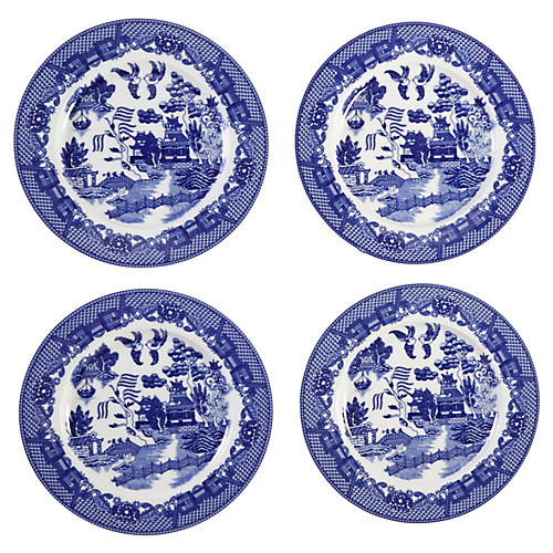 Willow Decorative Plates, Blue/White
