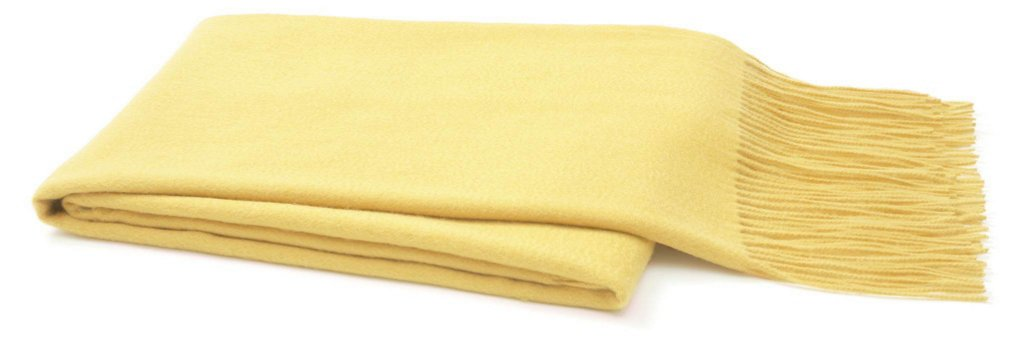 Solid Cashmere Throw Yellow Pillows Throws Holiday Decor One Kings Lane
