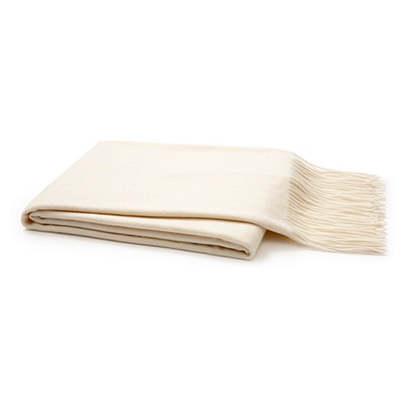 Solid Cashmere Throw, Cream