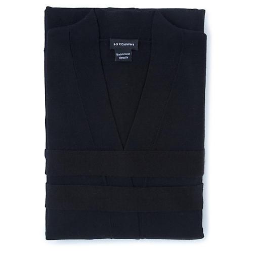 Cashmere-Blend Robe, Black