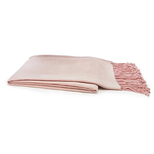 Vibrant Bamboo Throw, Pink