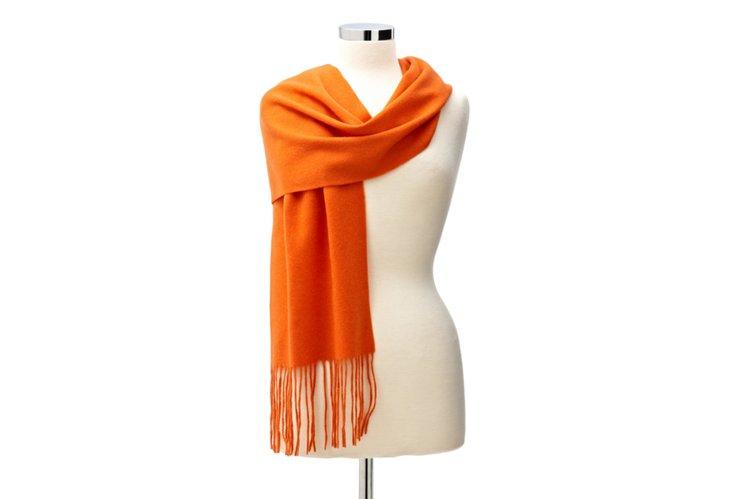 Cashmere Scarf, Orange
