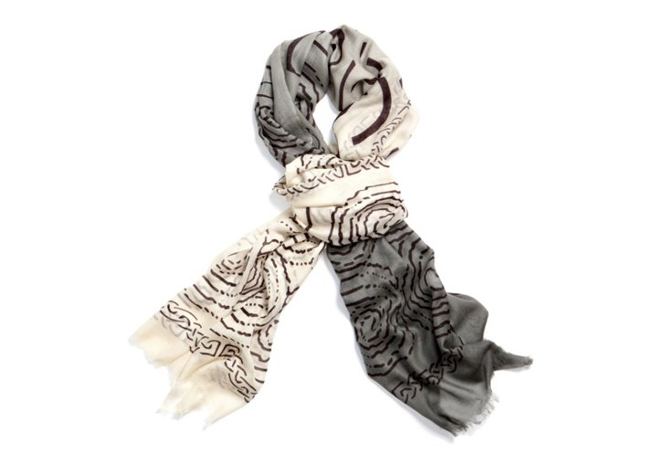 Ombre Wrap, Gray/White