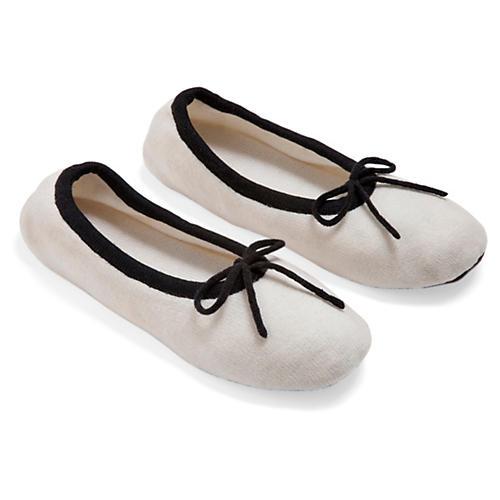 Merino Wool Slippers, Crème Fraîche