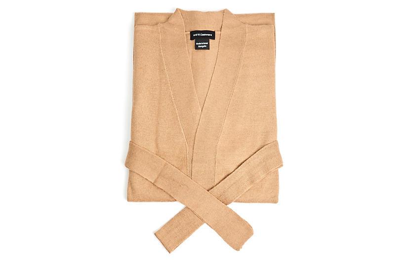 Cashmere-Blend Robe, Sand