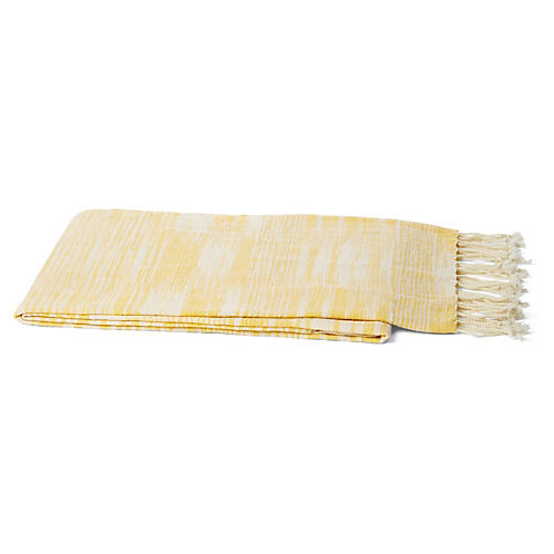 Khadi Silk Throw, Yellow