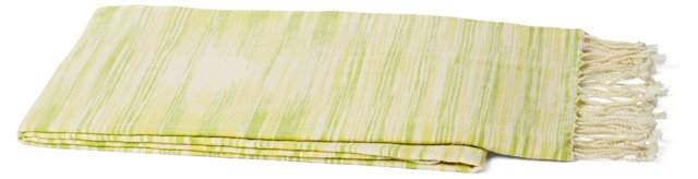 Khadi Silk Throw, Green