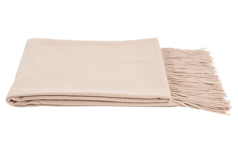 Solid Cashmere Throw, Eco