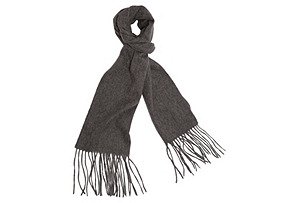 Cashmere-Blend Waterweave Scarf, Gray*