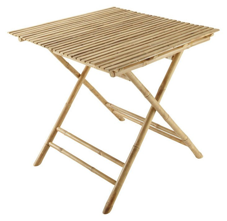 "Outdoor 31"" Bamboo Bistro Table"