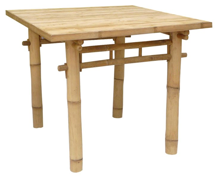 DNU, Dis Outdoor Bamboo Square Table