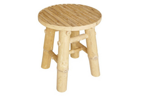 Outdoor Bamboo Low Stool, Natural