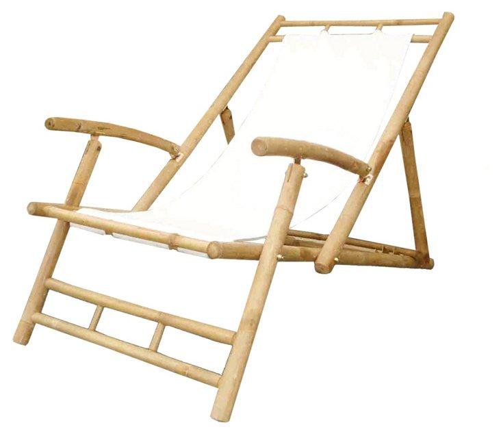 Outdoor Lacy Beach Chair, White