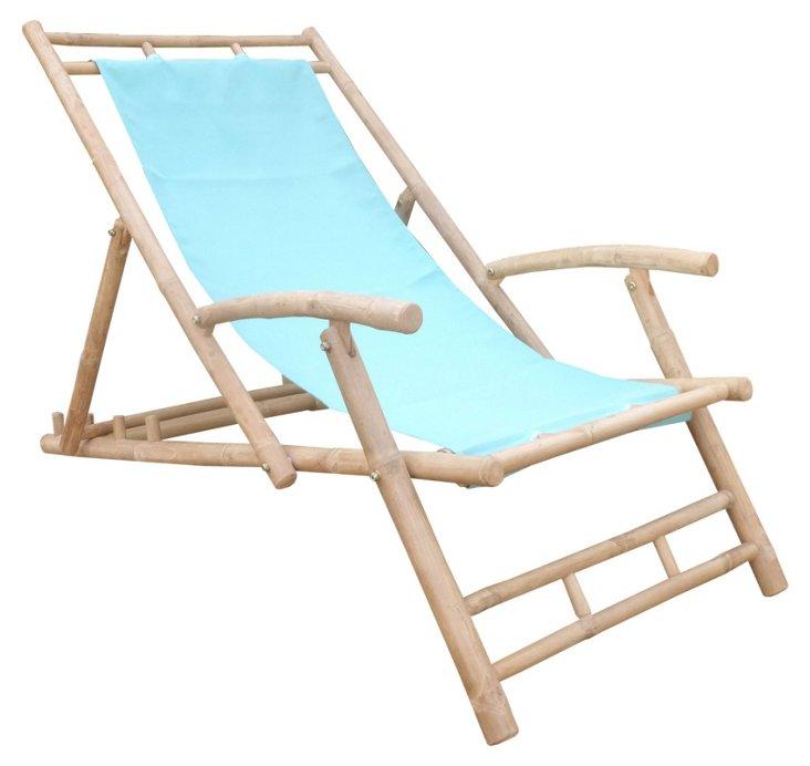 Outdoor Lacy Beach Chair, Aqua