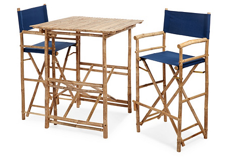 High Square Dining Set, Navy