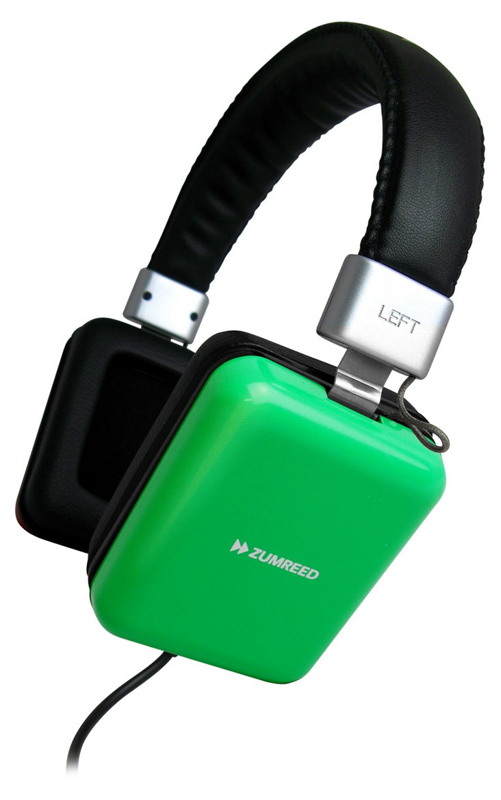 ZHP-010 Square Headphones, Green
