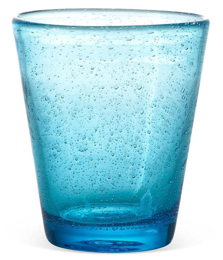 S/4 Bubble Water Glasses, Sea Blue