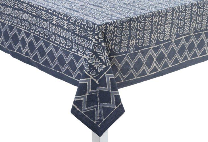 Batik Tablecloth, French Gray