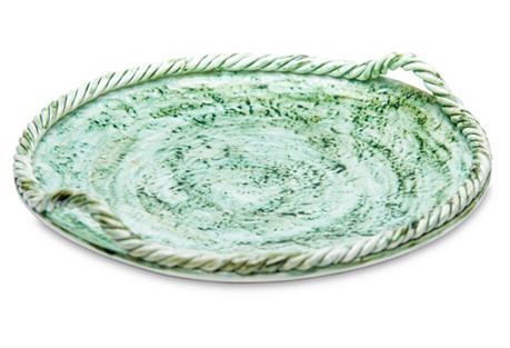 Pamplona Round Platter, Green