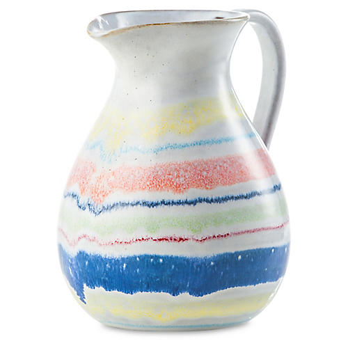 Cantina Pitcher, Yellow/Blue
