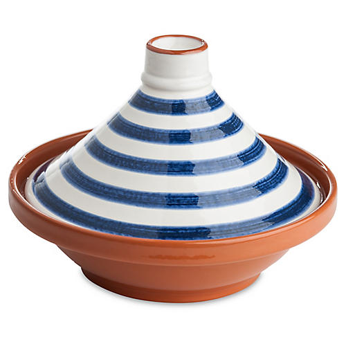 Tagine Striped Bowl, Yellow/Blue