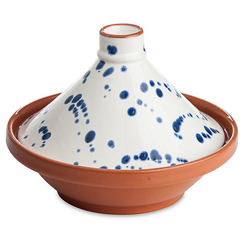 Tagine Speckled Bowl, Blue/White