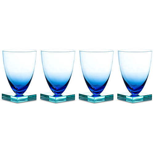S/4 Studio Wineglasses, Blue